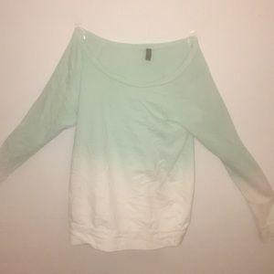 Ombré long sleeve shirt